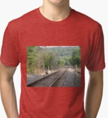 Track Into The Mountain Tri-blend T-Shirt