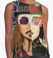 Johnny Depp Character Collage Contrast Tank
