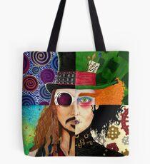 Johnny Depp Zeichen-Collage Tote Bag