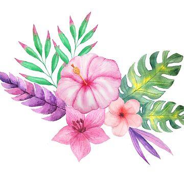 Tropical bouquet i by peggieprints