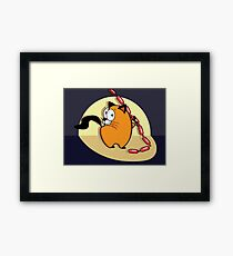 Hungry cat Framed Print
