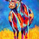 Colourful Angus Abstract Cow by Michelle Wrighton