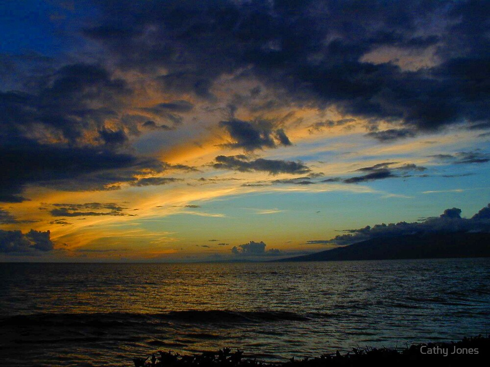 Another Kaanapali sunset by Cathy Jones