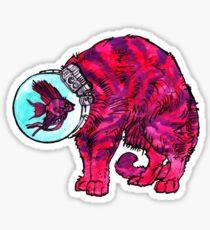 CATFISHTRONAUT (magenta) Sticker