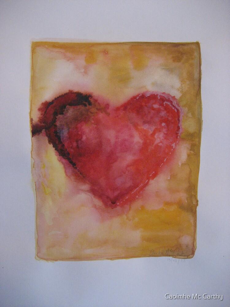 Water colour heart by Caoimhe Mc Carthy