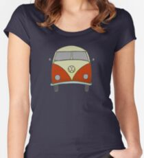 Old style beach bus Women's Fitted Scoop T-Shirt