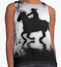 """Off to the Races"" Galloping Horse and Rider Contrast Tank"