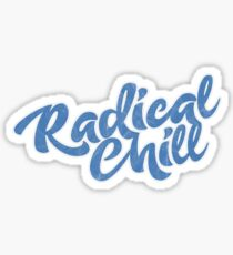 Distressed Radical Chill Logo Sticker