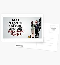"""Don't Forget Your Scarf"" - Banksy Postcards"