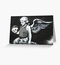 """Cherub"" - Banksy  Greeting Card"