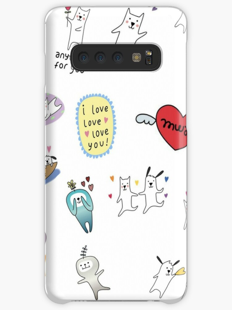 'Snapchat Dog Sticker Pack' Case/Skin for Samsung Galaxy by thehungrywalrus