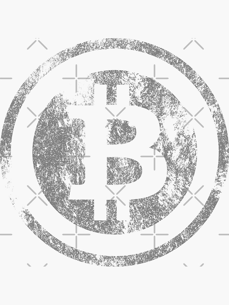 Vintage Bitcoin logo by goodspy