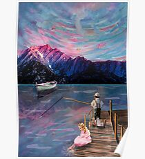 The Childrens Pink Sunset Poster