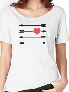 Cupid's Arrow Valentine's Day Heart Women's Relaxed Fit T-Shirt