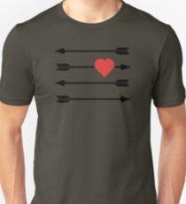 Cupid's Arrow Valentine's Day Heart Unisex T-Shirt
