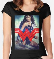 Super Woman Gal Gadot Women's Fitted Scoop T-Shirt
