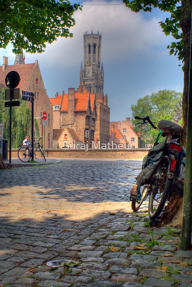 Belfry in Brugges by Suraj Mathew