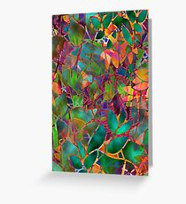 Floral Abstract Stained Glass G176 Greeting Card