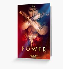 Super Woman Gal Gadot Greeting Card