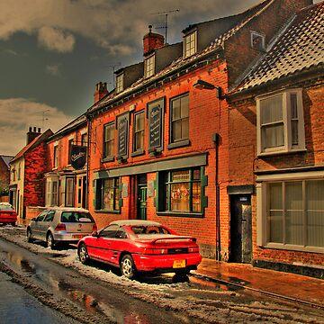 Snowy Street Scene by IanFoss
