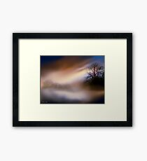 Foggy landscape Framed Print