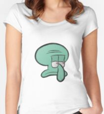 Squidward Women's Fitted Scoop T-Shirt