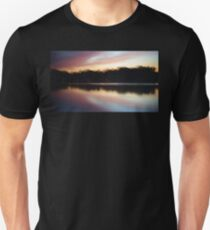 Pink Sunset Symmetrical Reflection T-Shirt