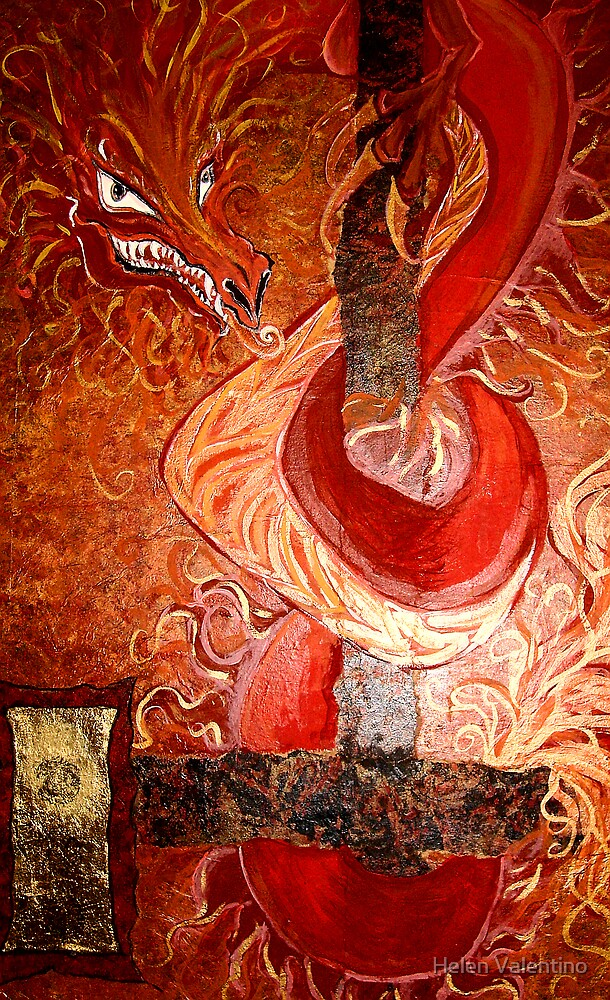 Fire dragon by Helen Valentino