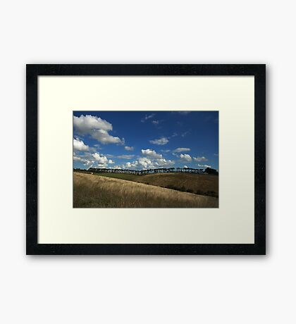== Lines of Nature == Donny Brook – Country Victoria - Australia Framed Print