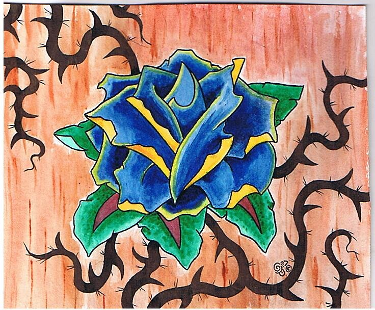 Blue rose by Gerry Harrison