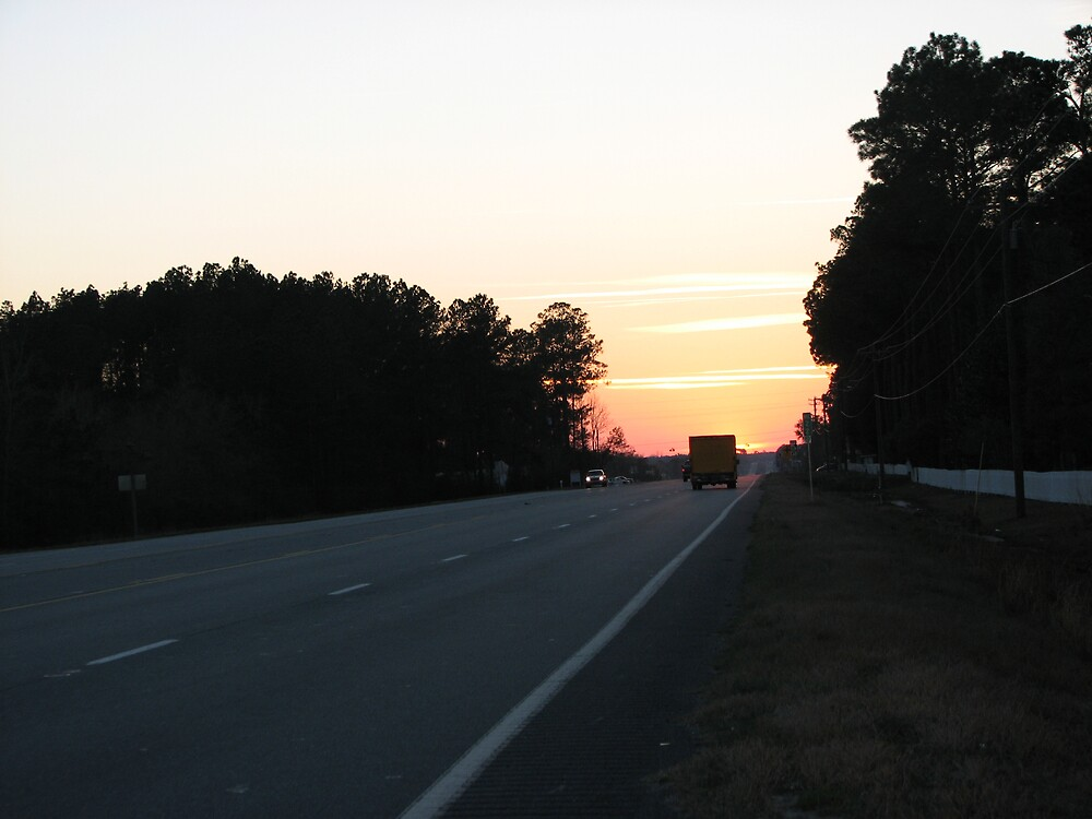 Sunset on a Georgia road by Beowulf