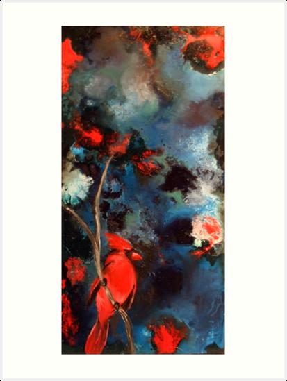 red cardinal by Faith Puleston