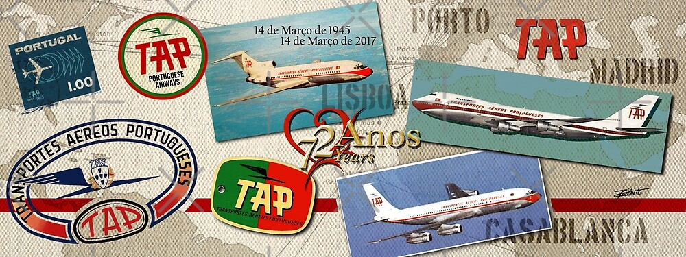 AIRLINES  VINTAGE 72 YEARS FLYING by Manecas