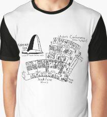 Gateway Con, Black Map & Logo Graphic T-Shirt