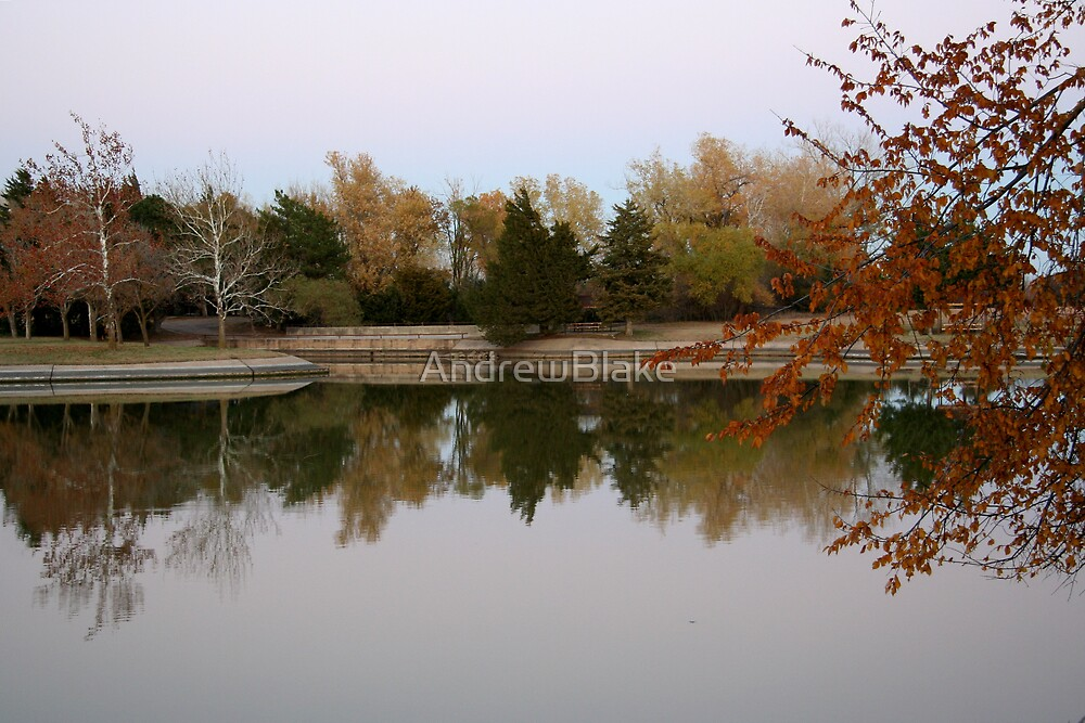 Lake reflections of autumn by AndrewBlake