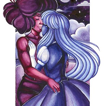 Steven Universe Ruby and Sapphire: Vanilla Twilight by rabbitflesh