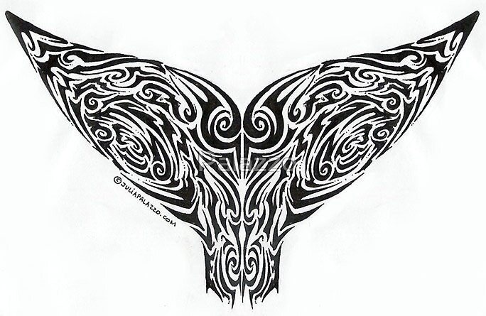 whale tail tribal by Palazzo