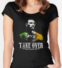 Take Over Conor Pic Women's Fitted Scoop T-Shirt