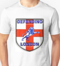 Millwall Defending London against terrorists, against terrorism, Cross of St. George 3D effect Unisex T-Shirt