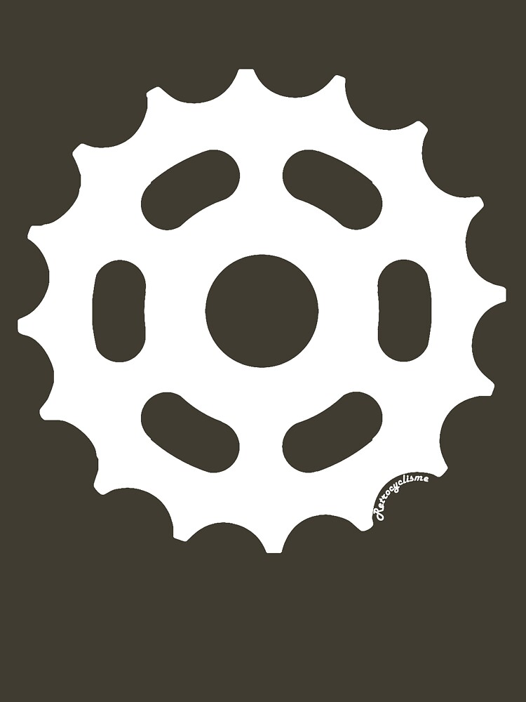Large Sprocket White by retrocyclisme