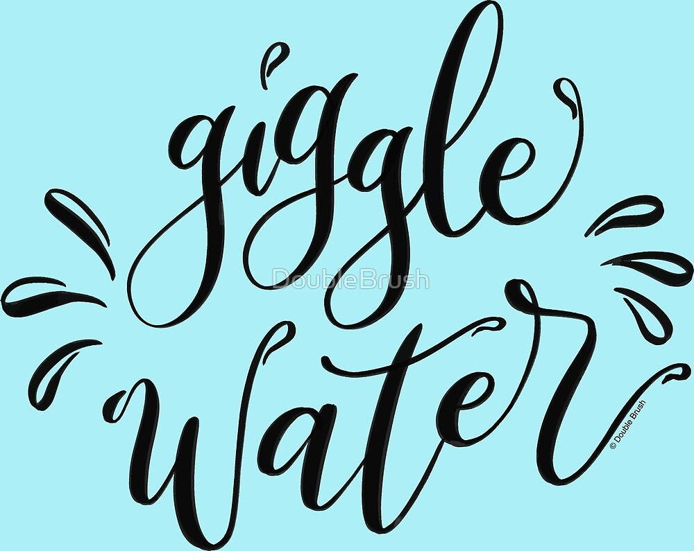 Giggle Water Speak Easy Fantastic Beasts Hand Lettering by DoubleBrush