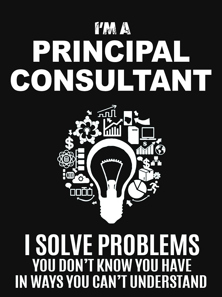 PRINCIPAL CONSULTANT - SOLVE PROBLEMS WHITE by ekkisgus