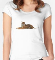 Tigre low poly  Women's Fitted Scoop T-Shirt