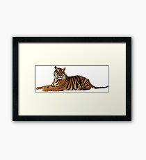 Tigre low poly  Framed Print