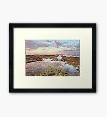 Pink sunset at Vincentia NSW Australia seascape landscape Framed Print