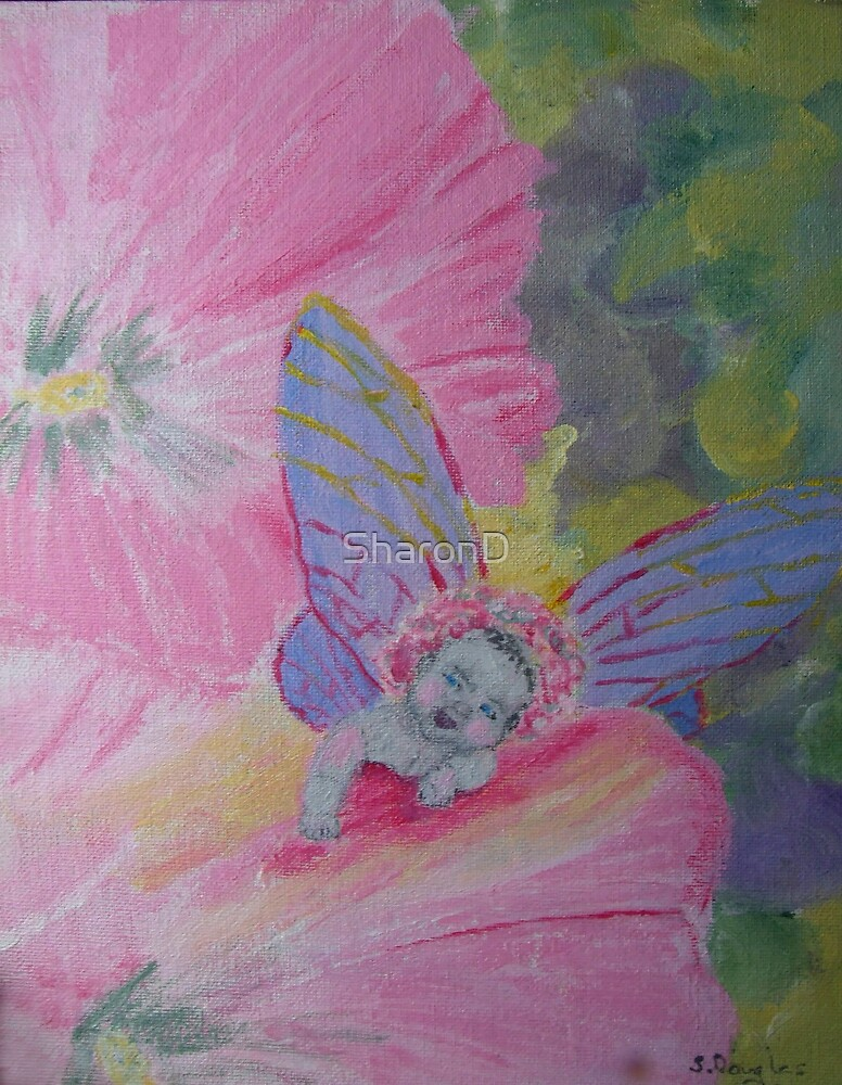 Flower Child-Painting by SharonD