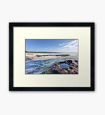 Flat Rock Creek, Hyams Beach Australia landscape seascape Framed Print