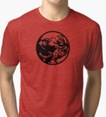 Earthbound Symbol - Super Smash Bros. (black) Tri-blend T-Shirt