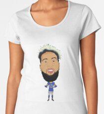 Odell Beckham Jr. Football Cartoon Women's Premium T-Shirt