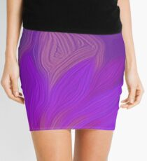 Purple Floral Light Mini Skirt